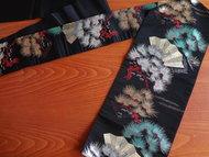 Traditionele japanse nagoya obi zwart waaier kimonoband japan