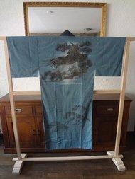 Traditionele Japanse Nagajuban Kimono blauw tori