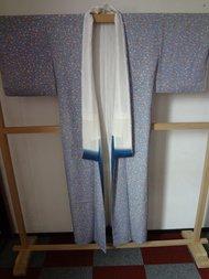 Traditionele japanse zijden kimono antiek licht blauw japan