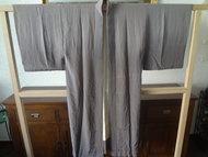 Vintage japanse nagajuban kimono grijs japans jasje showa