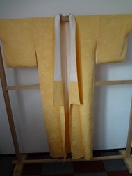 Traditionele japanse kimono geel jp vintage japans