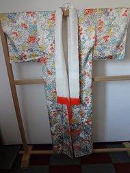 Traditionele Japanse Vintage Kimono Blad Bloemen Geheel