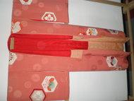 Traditionele Japanse Kimono Roze Bloemen Vintage Japan