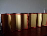 Japanse byoubu kamerscherm japans 2 stuks vintage japan