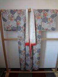 Traditionele japanse vintage kimono parten bloem