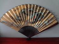 Japanse sensu/waaier woonaccesoire vintage japans draak