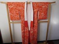 Traditionele Japanese Kimono TJK oranje/rood sakura
