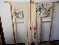 Traditionele Japanse Kimono creme bloemen