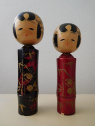 Japanse Kokeshi Houten Poppen Set