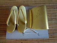zouriset slippers geta japans kimono goud himo tas