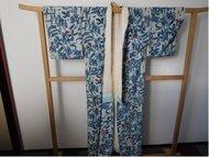 Kimono blauw rode accenten