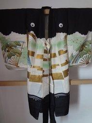 Japanse Miyamairi zijde kimono ougi