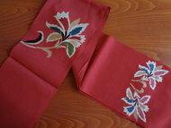 traditionele japanse Obi kimonoband rood vintage