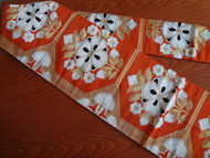 Traditionele Japanse Obi Vintage Bloem Oranje