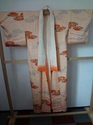 kimono zalm met bloemen
