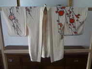 Antieke Traditionele Japanse Haori Kimono Plum