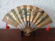 Japanse Ougi/waaier op standaard Showa Periode