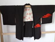 Haori Rood Bara (rode versiering)