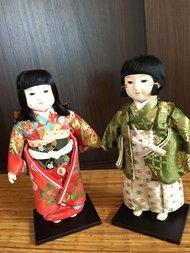 Traditionele oude vintage/ antieke poppen ichimatsuningyo