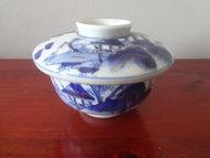 Arita Yaki Imari Porselein Dekselpot kop Meiji periode 1900