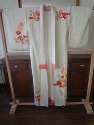 Traditionele Japanse Zijden Kimono Sakura wit