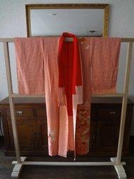 Traditionele Japans Zijden Kimono licht roze hana
