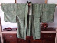 Traditionele Japanse Zijden Haori midori