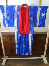 Traditionele Kimono Zijde Blauw