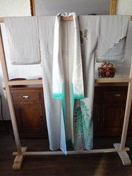 Traditionele Vintage Japanse Zijden Kimono KI-Berg Japan