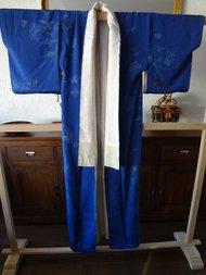 Traditionele Japanse Kimono zijden Japan blauw Ao