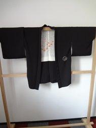 Traditionele Japanse Haori Kimono jasje Kraanvogel zwart JP?