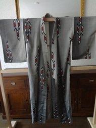 Traditionele Japanse zijden Kimono zilver-r