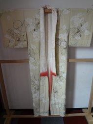 Traditionele Japanse Zijden Kimono licht groen bloem Japans