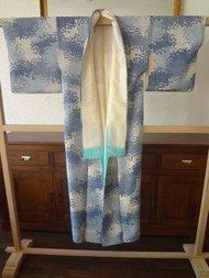 Traditionele Japanse Zijden Kimono lichtbl-ao Japan Showa