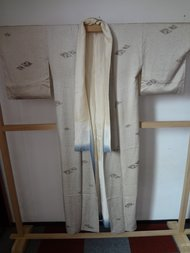Traditionele Japanse Kimono stipjes zwart kraag blauw Japans