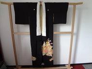 Traditionele Japanse Kimono Kurotomesode Zwart Hana JP