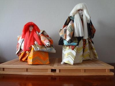 Traditionele Japanse renjishi poppen kabuki liondance