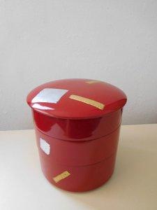 4 delige lakdoos Japanse bentobox Japan antiek Showa periode