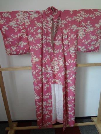 Traditionele Japanse Zijden Kimono Rose bloemen Japan