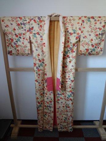Traditionele Japanse Kimono Bloemen Geheel vintage en antiek