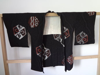 Traditionele japanse haori kimono jasje japans zwart zilver