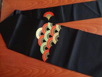 Traditionele japanse nagoya obi/kimonoband zwart-japan