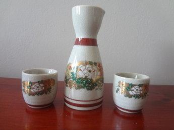Kutani Yaki Sake set