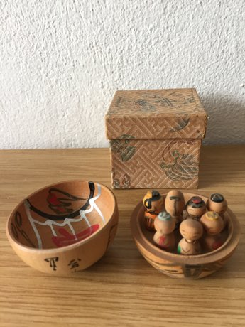 Small Kokeshi in round box