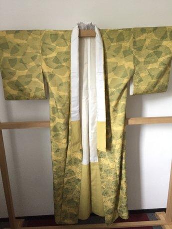 Traditionele Japanse Kimono groen met bloemeffect