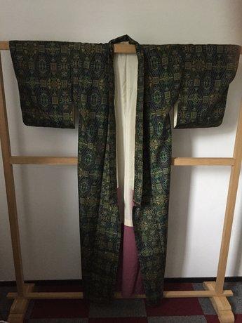 Traditionele Japanse Kimono groen met ruit