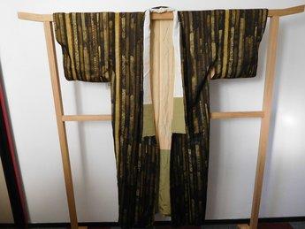 Traditionele Japanse Kimono zwart goud bruin