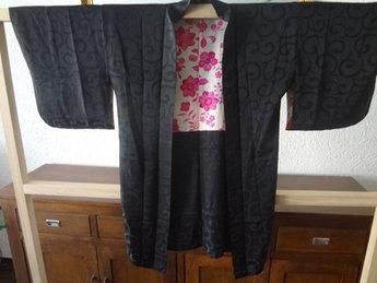 Traditionele Japanse Haori zwart-roze