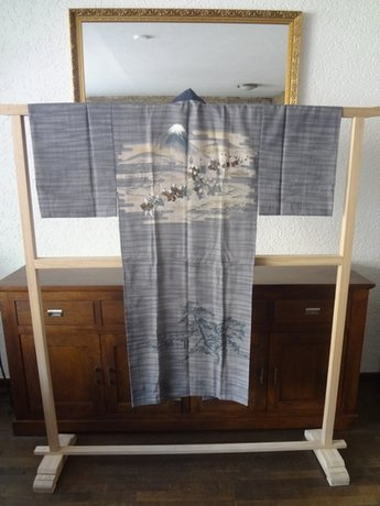 Traditionele Japanse Nagajiban Kimono Samurai Bushi Mt Fuji