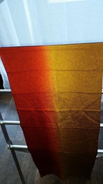 obijime (sjaal geelrood)
